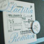 Faire part de mariage sur le thème de Lyon par Imagiligne partenaire Lyon-mariage.com
